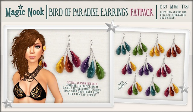 [MAGIC NOOK] Bird Of Paradise Earrings Vendor FATPACK