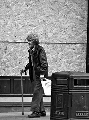 Slow Decline (Paul..Andrews) Tags: man scotland faces dundee bin walkingstick characters guardian boarded recession dundeepeople pdandrewsrecessionassignment