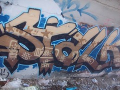 stalk (Reckless Artist) Tags: bridge building art minnesota graffiti midwest paint cities twin spray tc graff mn stalk tci colddayfun