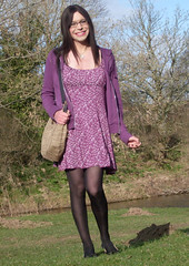 First day of spring (Starrynowhere) Tags: public outdoor emma tights tgirl transvestite opaque transgendered crossdresser starrynowhere