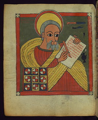 Illuminated Manuscript, Ethiopian Gospels, Eva...