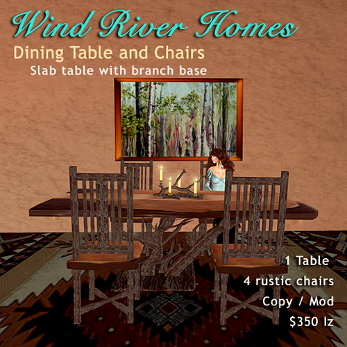 Rustic Dining Table and Chairs by Teal Freenote