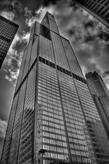 Sears Tower (rseidel3) Tags: city blackandwhite chicago building nikon searstower hdr march27 d5000 blackandwhitehdr willistower