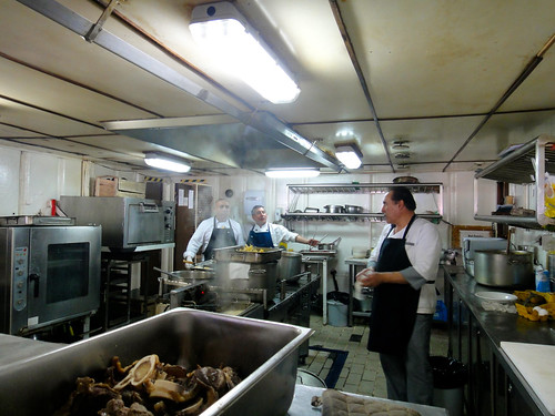 Kitchen on Navimag's Puerto Eden