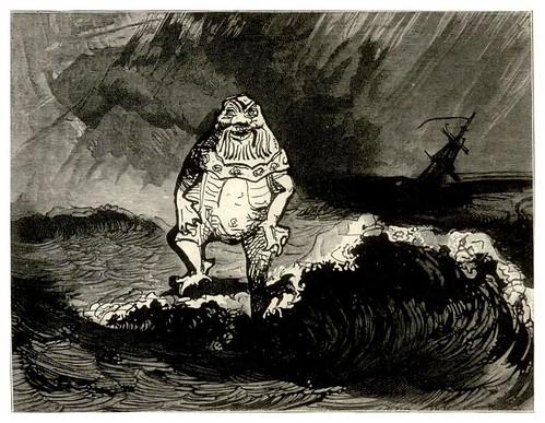 027-El rey de los Criniers- Los trabajadroes del mar-dibujo de Victor Hugo 1895.95-BNF