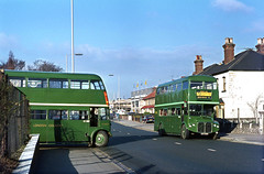 RT and RCL at Romford London Road Garage 1971 (David Christie 14) Tags: bus re 370 greenline 721 romford