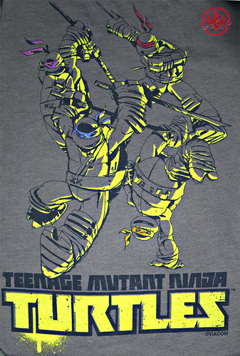 "Nickelodeon TMNT Fan Preview; ""FOUR BROTHERS PIZZA"" // Nick TMNT Preview 'Sketch' t-shirt iii (( 2011 ))"