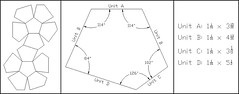 6 Irregular Dodecahedra: Cheatsheet (Daniel Kwan) Tags: 6 paper design compound origami geometry daniel modular edge diagram autocad instructions fold woven six dodecahedron interlocking cheatsheet unit kwan polyhedron irregular polyhedra dodecahedra danielkwan
