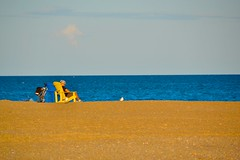 Beach Life (euanwhite) Tags: beach toronto sand water lake relaxing sunset