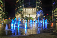 The Tower (Smo_Q - As long as you remember me, I'll never ..) Tags: poland polska warszawa warsaw warsawspire water fountain night emptiness loneliness friend autumn