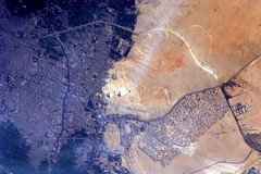 What is it? (astro_paolo) Tags: nasa pyramids giza iss esa internationalspacestation earthfromspace europeanspaceagency expedition26 magisstra