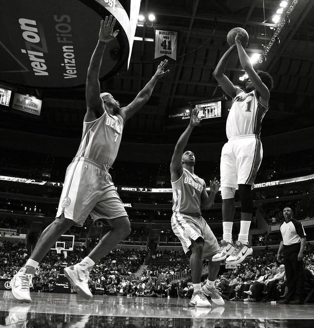 Denver Nuggets X Washington Wizards: A Wizards Loss To Denver In Black & White