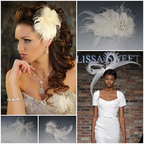 Bridal Feather Fascinators