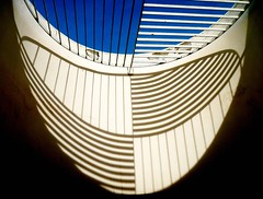Pres. Juscelino Kubitschek (JK) Memorial: Skylight shadows (peggyhr) Tags: blue friends brazil sky sunlight white abstract black lines wall bars gallery niceshot shadows curves skylight choice soe brasilia memorialjk oscarniemeyer 50faves youvegottalent peggyhr flickrbronzeaward citritbestofyours doorswindowsandsteps heartawards 123abstractarchitecture highqualityimages beautifulshot thedigitographer 100commentgroup artofimages flickraward mygearandme mygearandme1 lomejordemisamigos chariotsofartists level1photographyforrecreation photographersworld blinkagainforinterestingimages youcallitartwhynot thebrasiliajkmuseumandmemorial linescurvesandshadowsp1a2 p1220463a