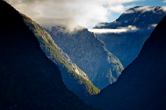 Middle Earth Magic (MarkMeredith) Tags: newzealand mountains dawn aperture valley nz sound southisland milfordsound fiord fiordland fiordlandnationalpark niksoftware