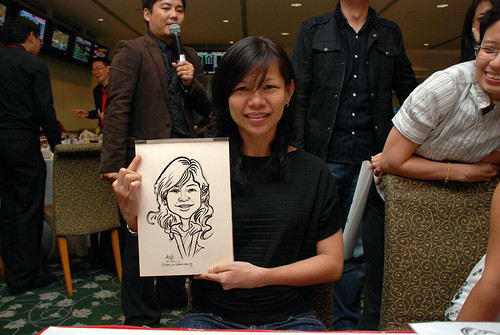 caricature live sketching for Thorn Business Associates Appreciate Night 2011 - 36
