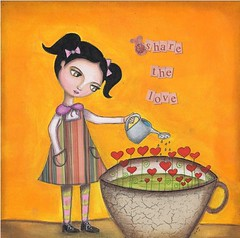 Share the Love (Mexican Colors) Tags: cute love girl whimsy colorful heart feeding valentine share mexicancolors