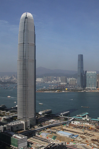 The two tallest building of HK: IFC Two and the ICC.