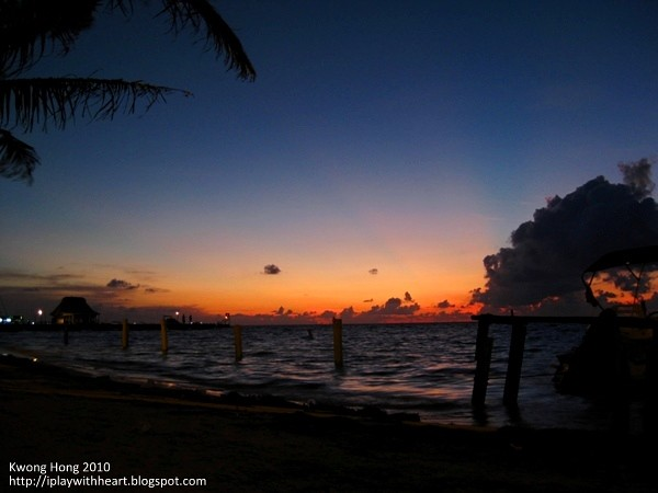 Sunrise at San Pedro, morning Caribbean