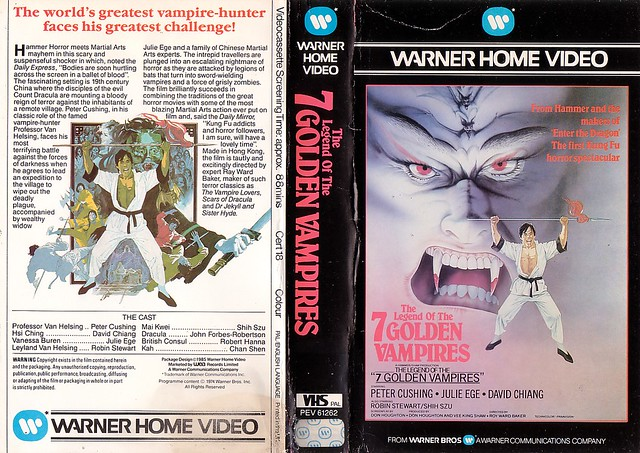 THE LEGEND OF THE 7 GOLDEN VAMPIRES (VHS Box Art)