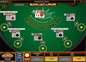 Multi-Hand Bonus Blackjack game