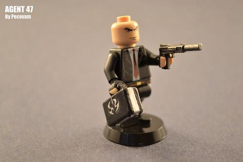 Custom minifig Agent 47 custom lego minifigure