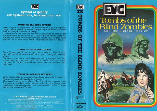 Tombs Of The Blind Dead (VHS Box Art)