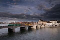 Bridge & Tram (dongga BS) Tags: basel stadt rhein blt strassenbahn bvb rheinbrcke canoneos50d mittlererheinbrcke 1116mm tokinaatx116prodx1116mmf28 tramdrmmli