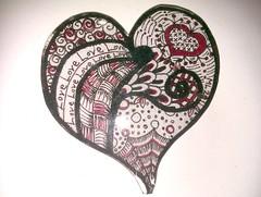 Doodle Heart shrinkie pendant