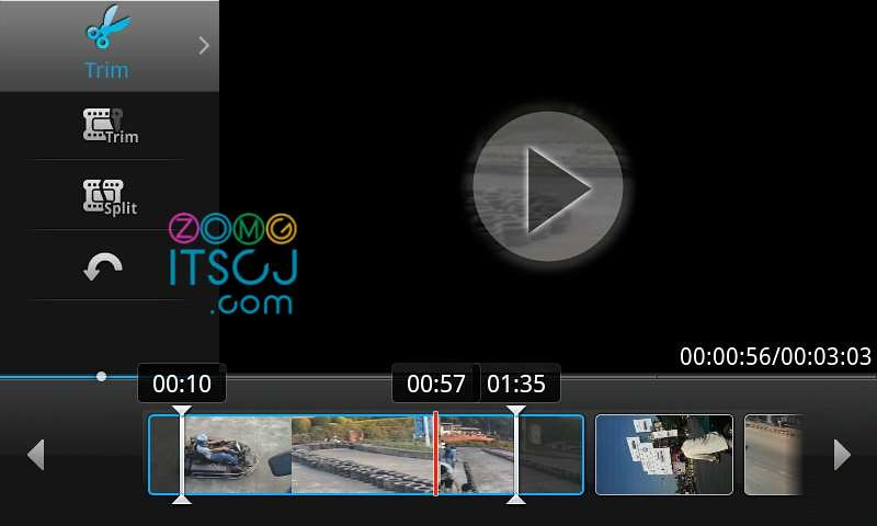 Samsung Video Editor: Trim