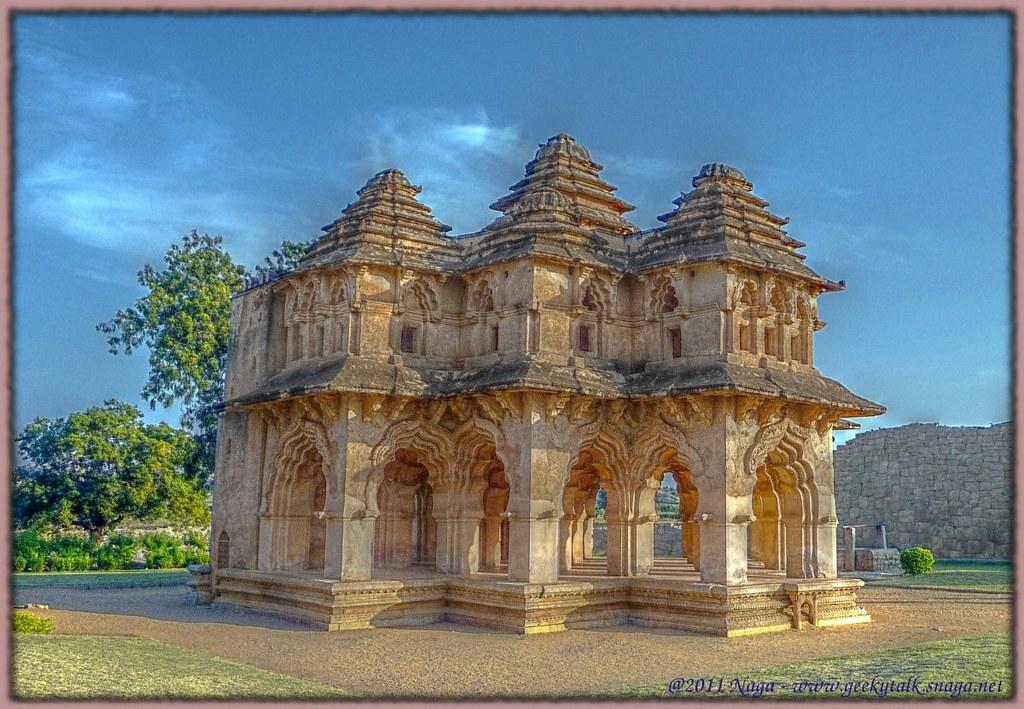 My first attempt HDR - Lotus Mahal at Hampi