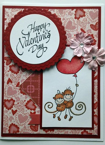 "Happy Valentine's Day ""Changito"" handmade card"