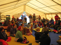Buddhafield East 2008 in the tent