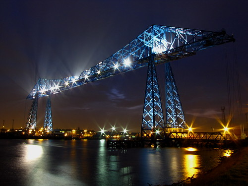 The Tees Transporter Bridge.