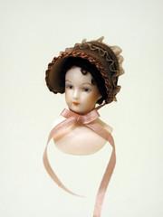 brown velvet bonnet