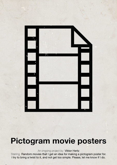 Pictogram movie posters poster
