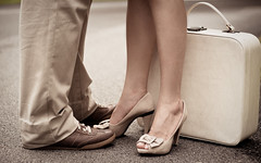 bags are packed (mela.de.gypsie) Tags: road wedding brown love sepia vintage de photography engagement shoes couple mood rainyday tan cream archives suitcase tones gypsie mela prewedding neutral couplet ijustrealisedthatipostedtwophotosinarowaboutfootwear idonthaveafetishipromise