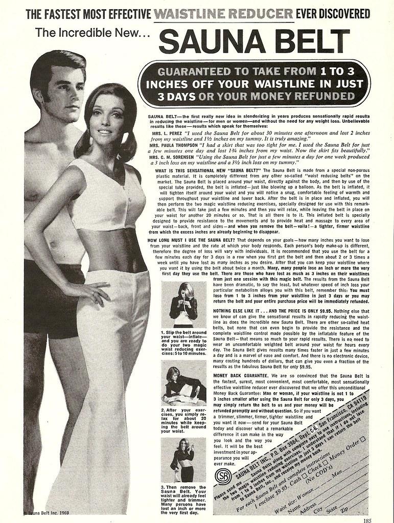 1970 sauna belt ad