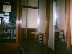 3 - Enigma - Glass Window Mirror - Glas Fenster Spiegel (hedbavny) Tags: vienna wien autumn winter summer reflection art film window glass analog studio austria sketch sterreich spring lomo lomography chair sommer empty fenster leer kunst diary herbst jahreszeit sketchbook schaufenster september note diana melancholy reflexion spiegelung tagebuch vangogh glas stuhl reflektion frhling atelier sessel vincentvangogh werkstatt skizze auslage notiz arbeitsraum skizzenbuch dianamini briefmarkengeschft hedbavny ingridhedbavny