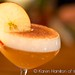 Yew: creme brulee bourbon sour, close up