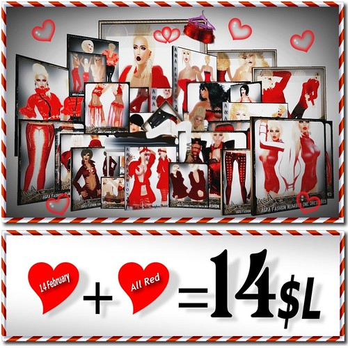 ALREADY NOW THE RED COLOR FOR 14 L$                                       in A&A Fashion Shop                                        only to end  14Feb.
