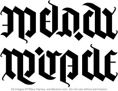 """Melody"" & ""Miracle"" Ambigram"