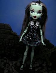 Living Dead Girl (Wizard of X) Tags: monster high punk doll emo goth frankenstein mattel burton nightmarebeforechristmas 2010 newage boriskarloff karloff monsterhigh draculaura frakiestein wizardofx