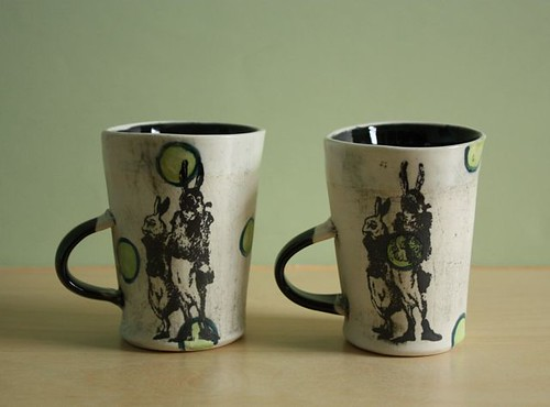 dashing rabbits espresso cups by pinkkiss