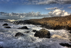 Giants Causeway (spatialpan) Tags: blue ireland sea sky white water clouds photoshop canon coast rocks atlantic northern giantscauseway causeway basalt ulster antrim causewaycoast scenicsnotjustlandscapes spatialpan