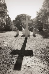 Here lies Henry Luce (Daniela Duncan) Tags: light shadows cross headstone tint restingplace soop mepkinabbey henryluce bydanieladuncan