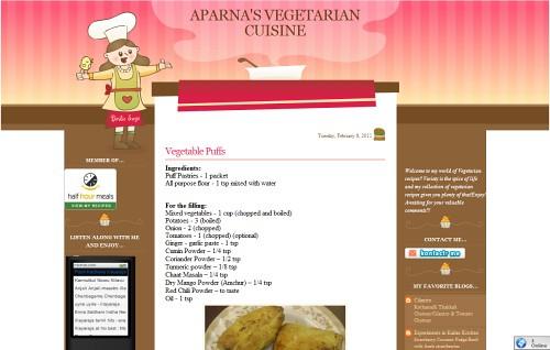 Aparna's Vegetarian Cuisine