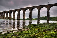 Railway arches (Tony Shertila) Tags: england water weather clouds river europe day arch cloudy britain border bridges northumberland tweed berwickupontweed