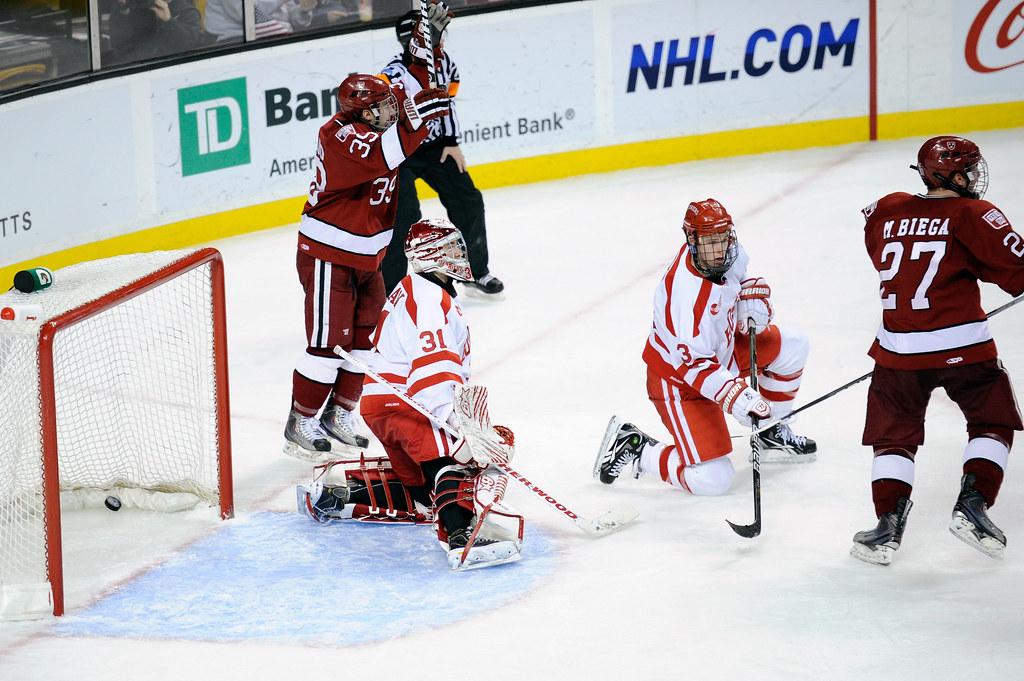 NCAA Hockey: Beanpot Tournament; Consolation game, Harvard vs Boston University