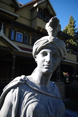 Winchester House in San Jose (Wendkuni) Tags: california sanjose statues roadtrip winchesterhouse